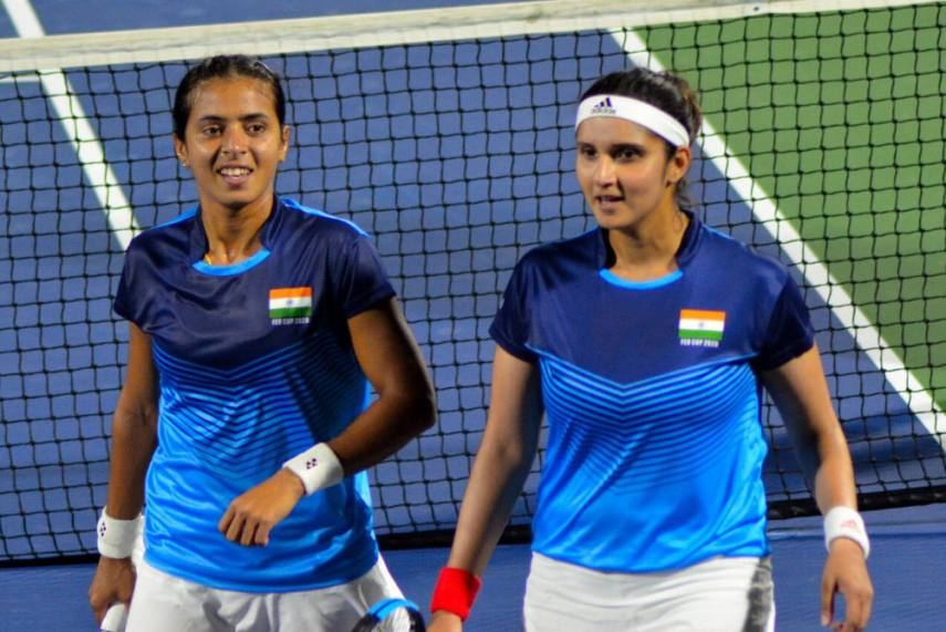 Fed Cup, Tennis: Rutuja Bhosale, Sania Mirza-Ankita Raina Keep India Alive  For Play-Offs