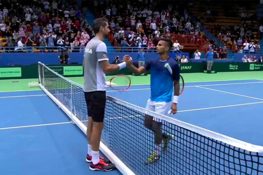 Davis Cup: India Lose 1-3 To Croatia After Sumit Nagal's Crushing Defeat Against Marin Cilic