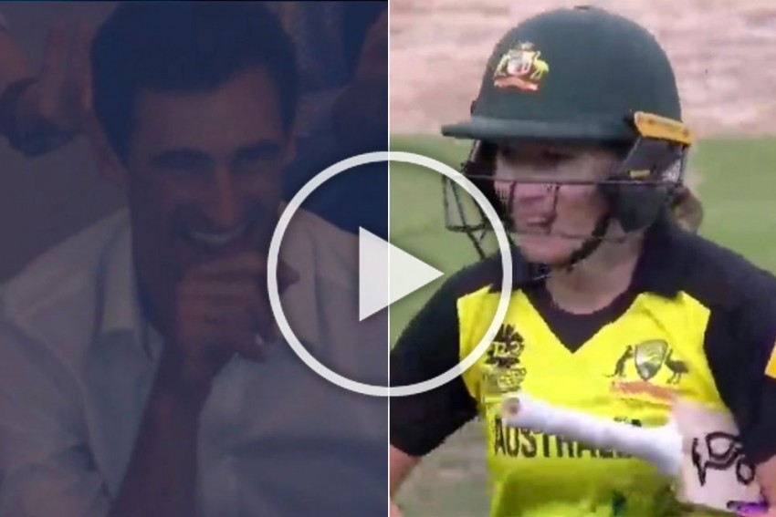 ICC Women's T20 World Cup, IND Vs AUS: Husband Mitchell Starc Watches As Record-Breaking Alyssa Healy Destroys India - WATCH