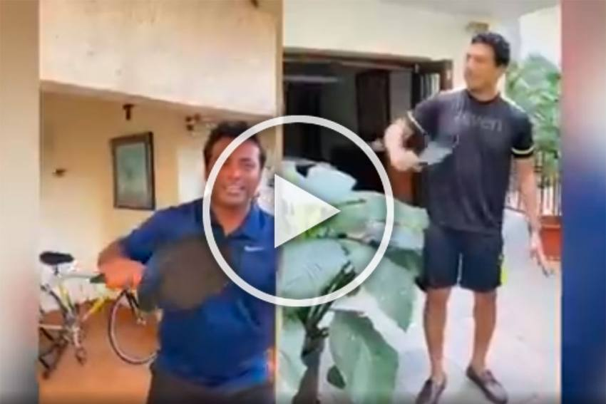 Tennis' 'Sholay' Moment: Leander Paes Clubs Video Of Him And Mahesh Bhupathi - WATCH It With Full Volume On