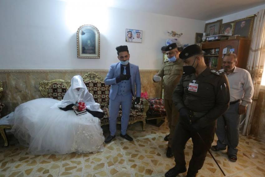 Iraqi Couple Gets Police Help to Wed Amid Coronavirus Curfew