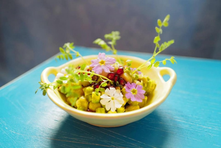 Lockdown Recipe: Chickpea Salad with Roasted Eggplant   By Chef Gaggan Anand