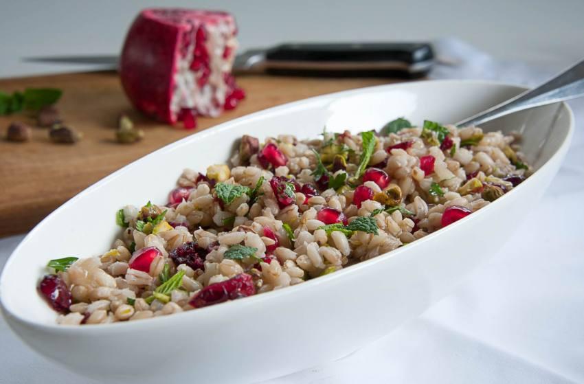 Lockdown Recipe: Pearl Barley, Almonds And Pomegranate Salad   By Chef Manoj Rawat