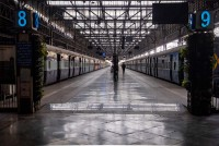 Static Motion: With Trains Parked And Platforms Empty Of Footfall, Mumbai's Victoria Terminus In Recess