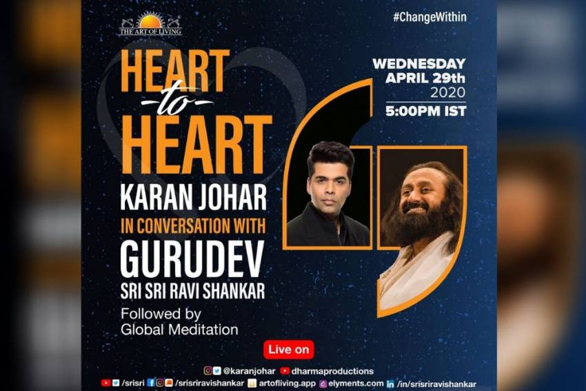 Karan Johar To Start A'Heart To Heart' Series With Sri Sri Ravi Shankar