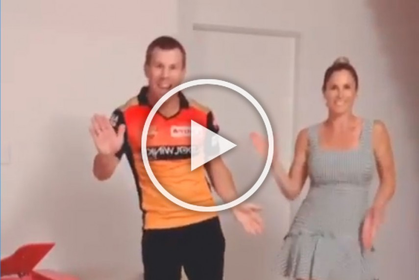David Warner And Wife Candice Dance On Hit Telugu Song Butta Bomma Watch