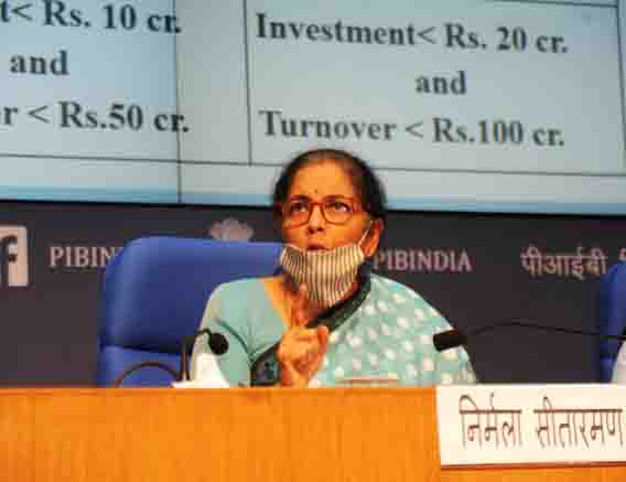 FM Extends Generous Support To MSMEs, Announces Rs 3 Lakh Crore Collateral-free Loan