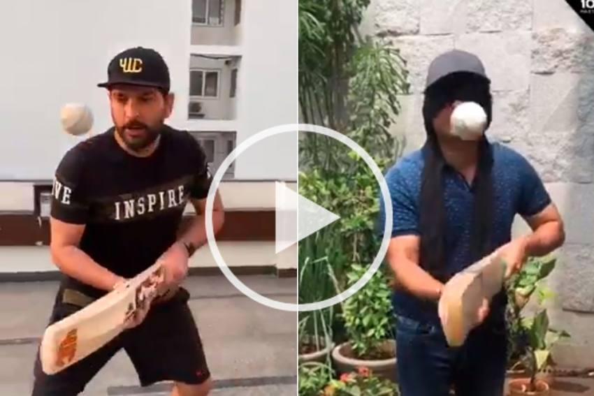 Blindfolded Sachin Tendulkar Makes Yuvraj Singh Regret - WATCH