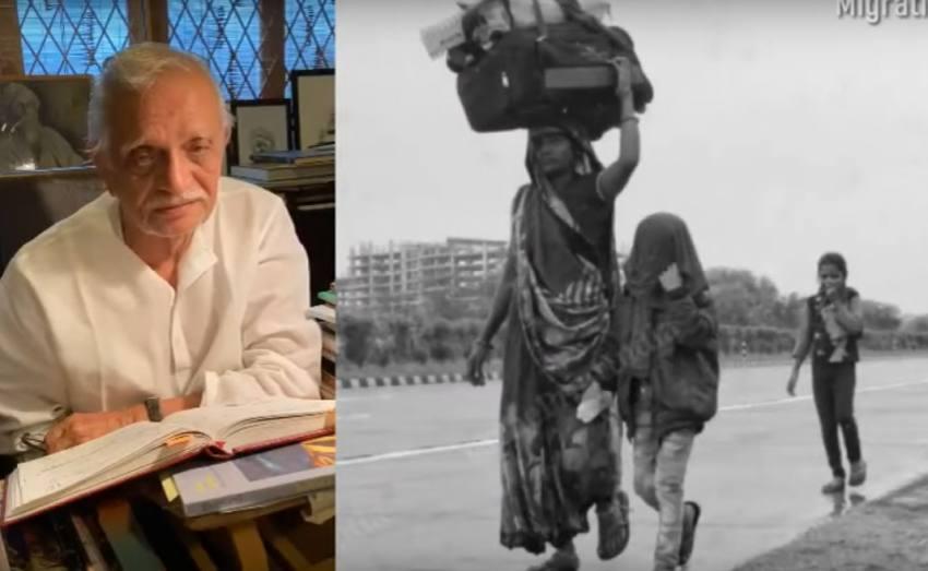 <em>'Marenge To Wahin Jaa Kar Jahan Par Zindagi Hai'</em>: Gulzar Pens Poignant Poem On Migrants
