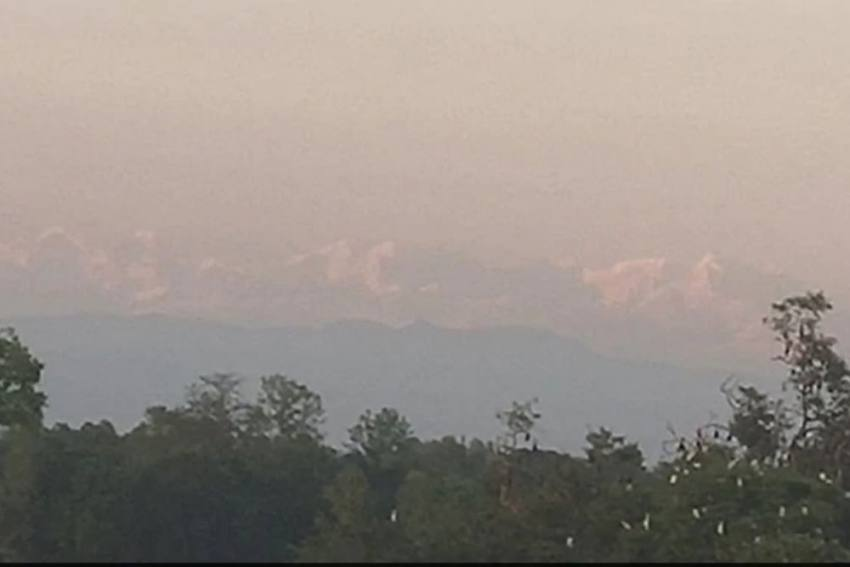 Snow-Capped Himalayas Visible From Bihar Village After Decades, Pics Go Viral