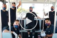 Lionel Messi Poses In Mask With Barcelona Teammates Ahead Of Mallorca Clash - WATCH