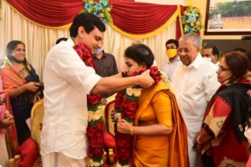 Kerala Chief Minister's Daughter Weds CPI(M) Youth Wing Leader