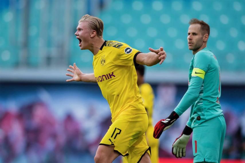 Rb Leipzig 0 2 Borussia Dortmund Haaland Double Wraps Up Second Spot In Bundesliga