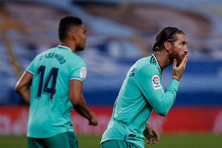 Real Sociedad 1-2 Real Madrid: Sergio Ramos, Karim Benzema Goals Help Zinedine Zidane's Men Climb Above Barcelona