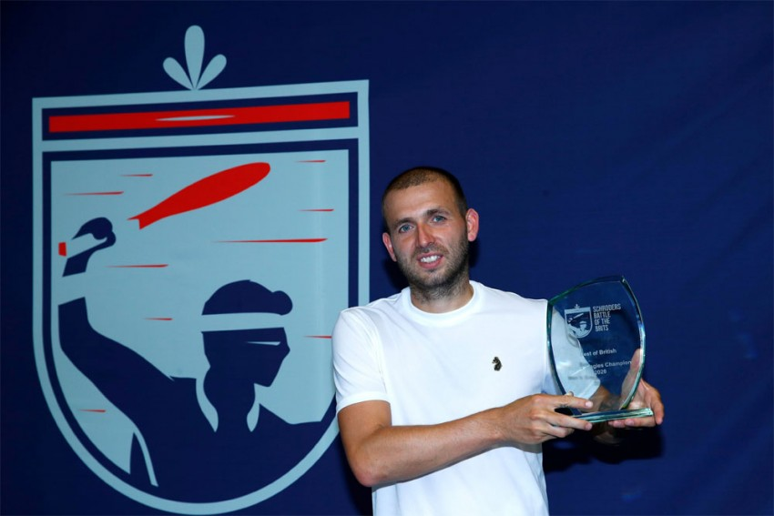 Clinical Dan Evans Downs Kyle Edmund In Battle Of The Brits Final