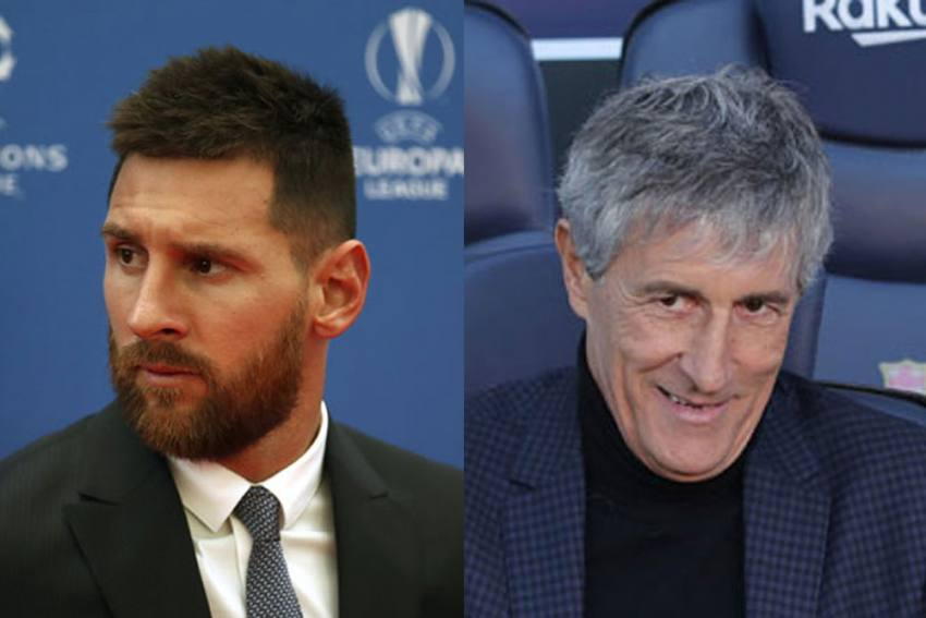 Barcelona: Quique Setien Quells Talk Of Lionel Messi Rift, Says There Is Always Controversy