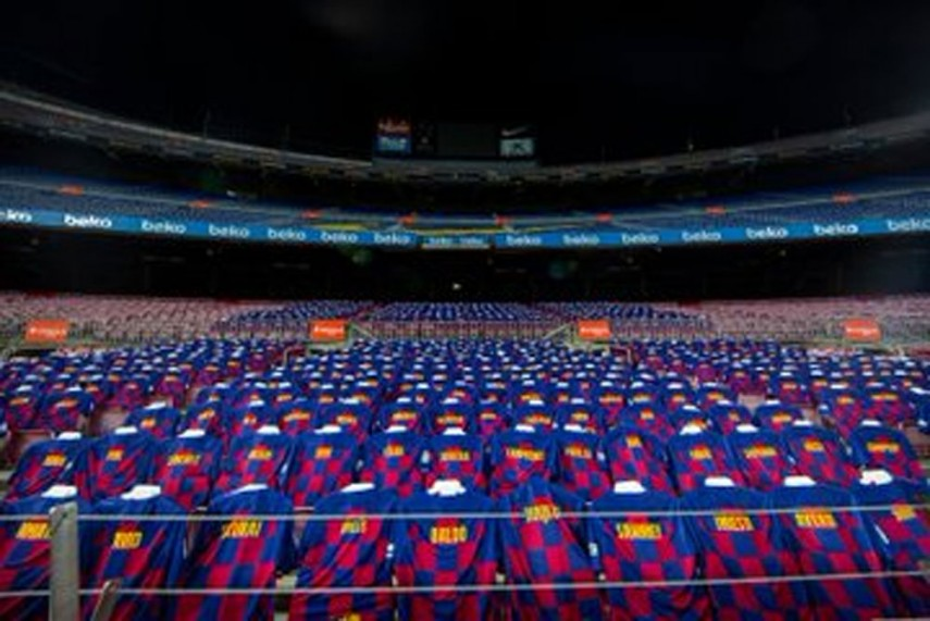 barcelona place 3 000 personalised shirts on seats for atletico madrid clash seats for atletico madrid clash