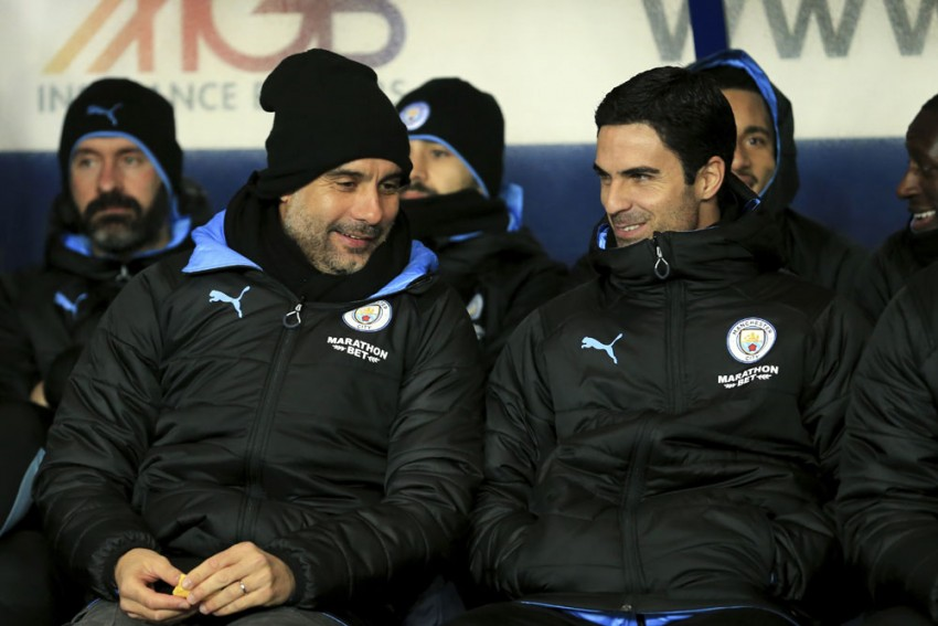 Mikel Arteta Still Regularly Seeks Advice From Manchester City Boss Pep Guardiola