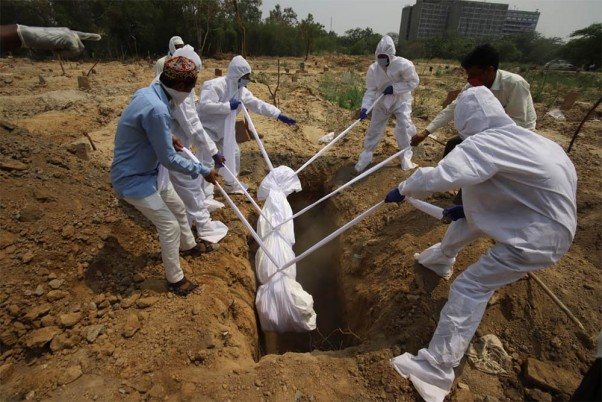 Several Covid Victims' Bodies Dumped In Pit In Karnataka, Video Triggers Outrage