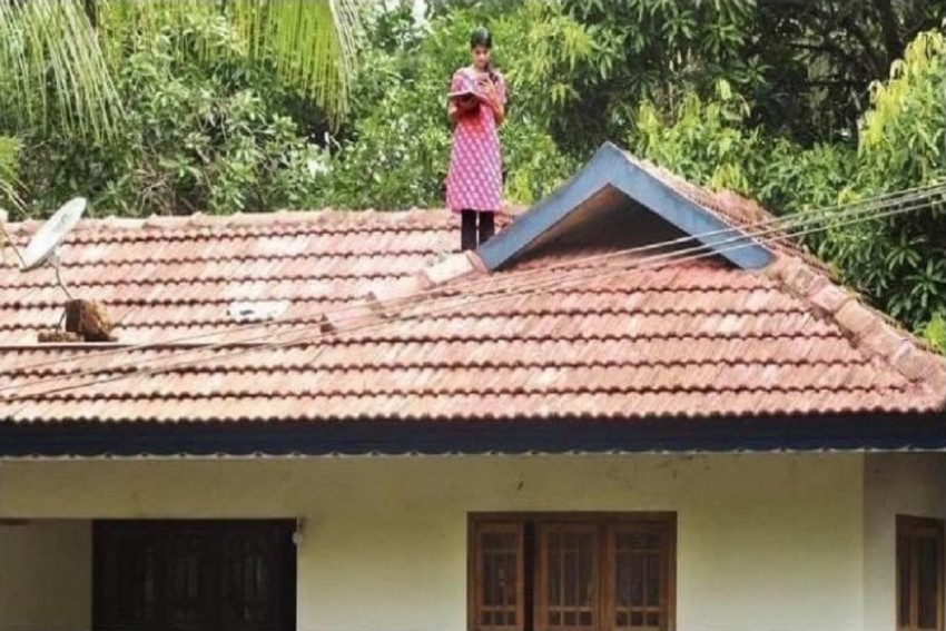Kerala Girl Climbs Rooftop For Better Connectivity To Attend Online Classes
