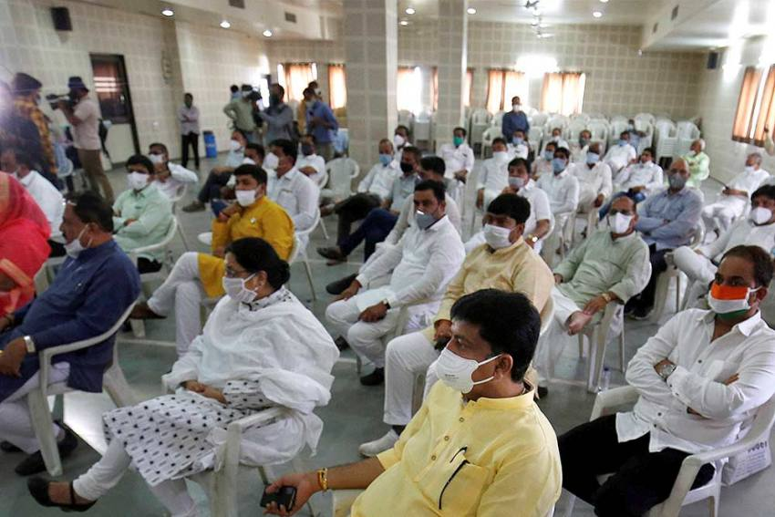 Congress Moves Gujarat MLAs To Resorts After 3 Resign Ahead Of Rajya Sabha Polls