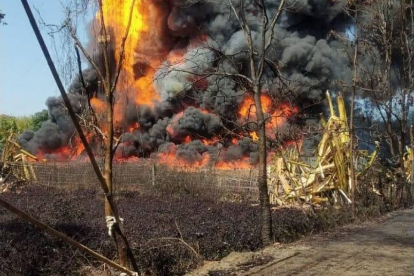 Massive Fire At Assam's Baghjan Oil Well, May Take Four Weeks To Douse Blaze
