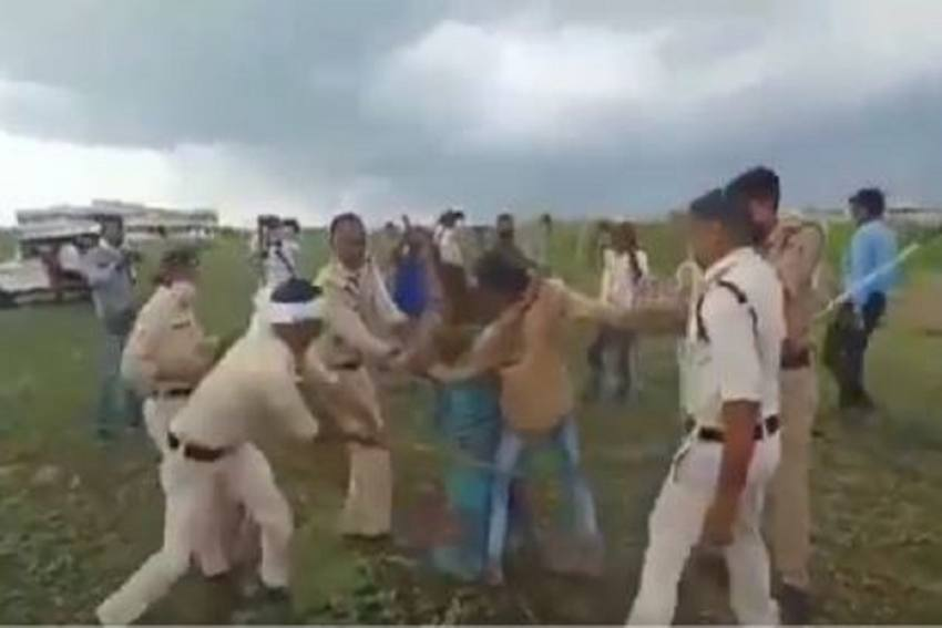 Controversy Erupts Over Video Of MP Police Beating Dalit Man; SP, Collector Removed