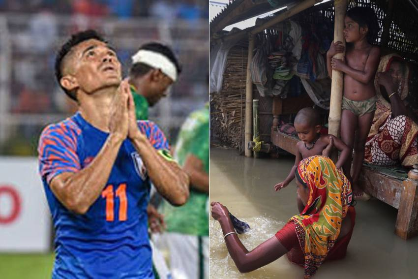 Flood-hit Assam Needs Our Attention And Assistance, Urges Sunil Chhetri