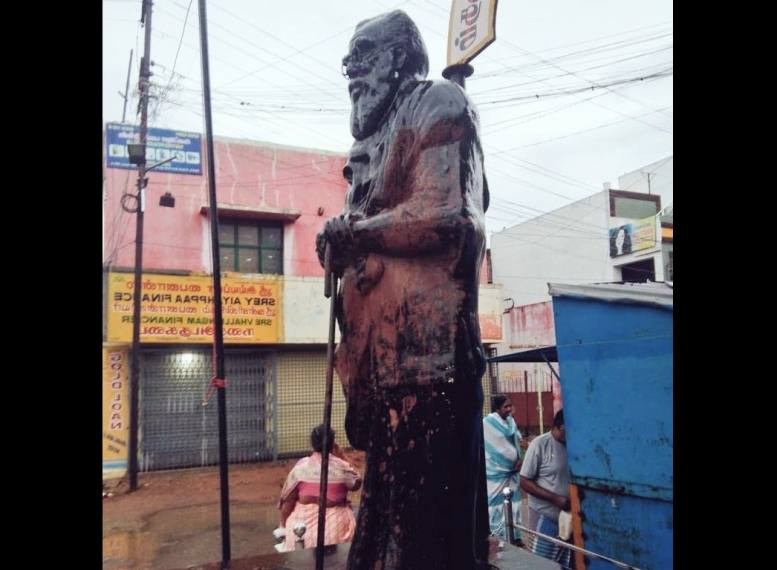 Periyar's Statue Smeared With Saffron Paint In Coimbatore, Protests Erupt