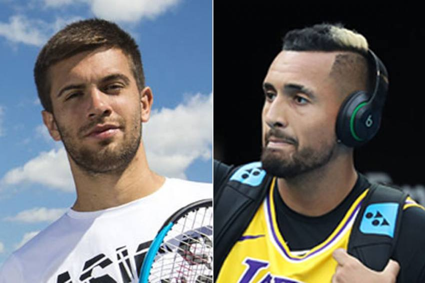 Nick Kyrgios Swipes Back At Borna Coric - Do You Have Rocks In Your Head?