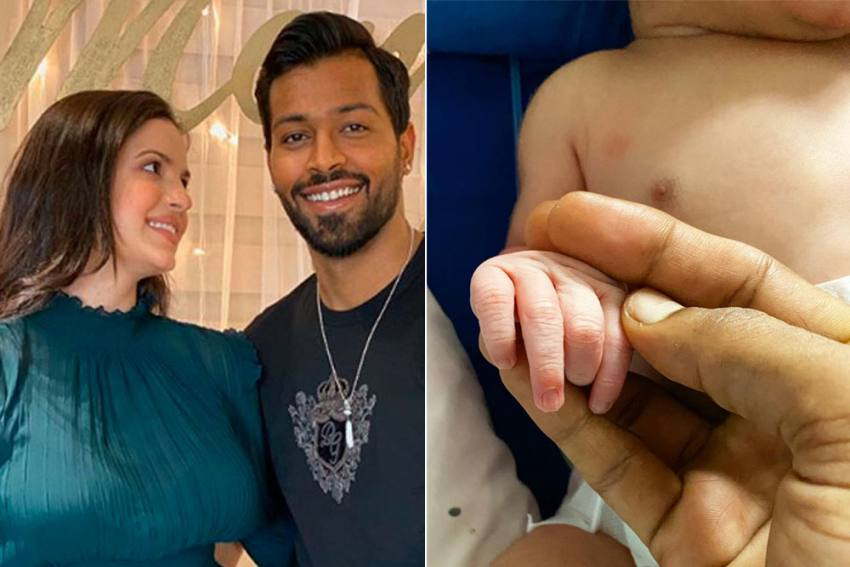 Hardik Pandya And Wife Natasa Stankovic Blessed With Baby Boy - Shares First Picture