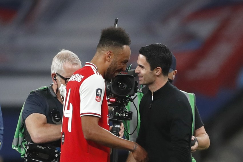 Mikel Arteta Does Not Think FA Cup Final Will Be Pierre-Emerick Aubameyang's Last Game For Arsenal