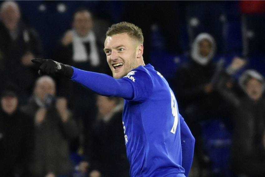 Leicester City Striker Jamie Vardy Scores 100th Premier League Goal