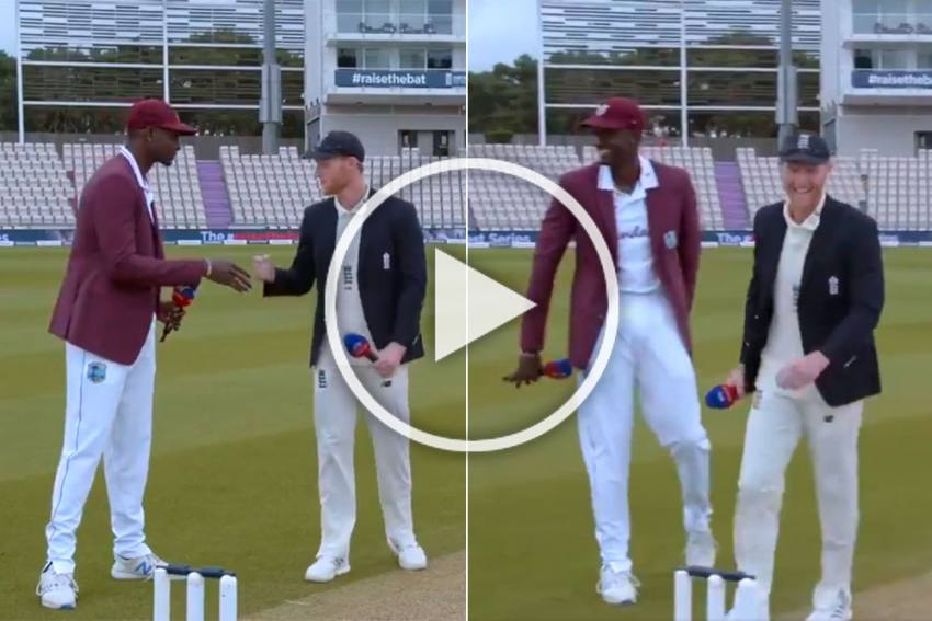 ENG Vs WI, 1st Test: Hilarious Scenes As Jason Holder Almost Shakes Hand With Ben Stokes - WATCH