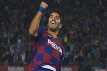 Quique Setien Hails Luis Suarez After Reaching Barcelona Landmark