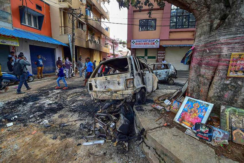 BJP Accuses Congress Of Not Being 'Vocal' Against Rioters In Bengaluru