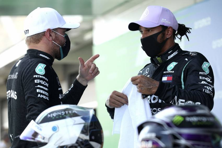 Spanish Grand Prix: Lewis Hamilton On Pole As Mercedes Lock Out Front Row