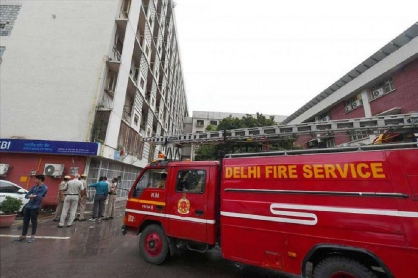 Huge Fire At Power Station In Noida Amid Rain, Fire Tenders Rushed To Spot