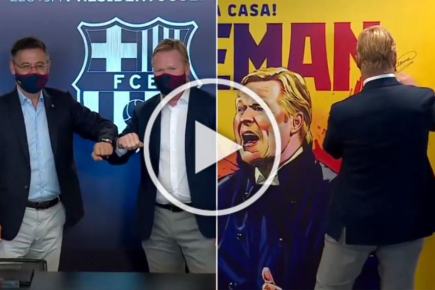 Ronald Koeman's Barcelona Reign Starts, Watch The  Coach Presentation At Camp Nou -VIDEO