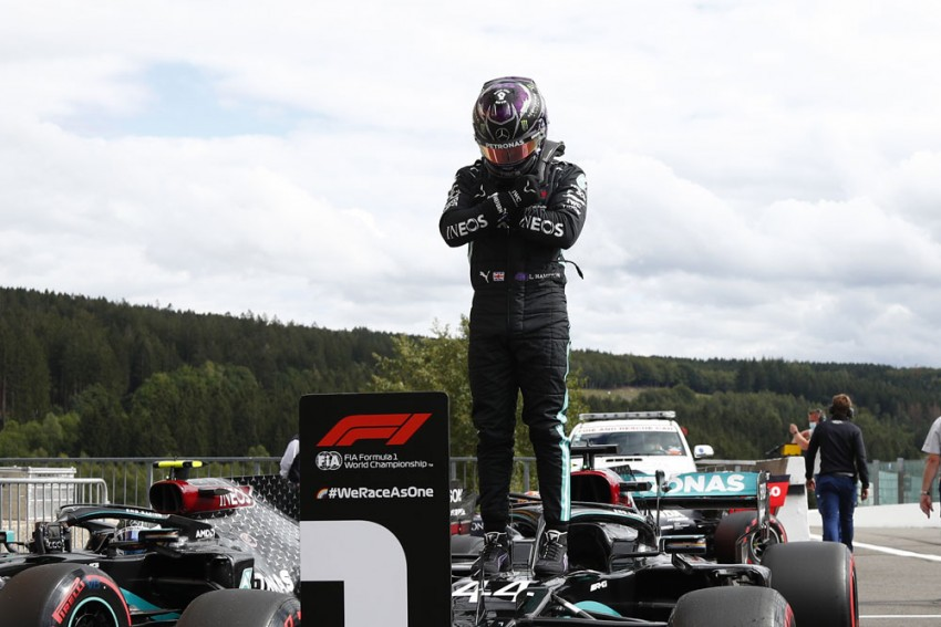 Belgian Grand Prix: Lewis Hamilton Storms To Spa Pole As Mercedes Lock Out Front Row