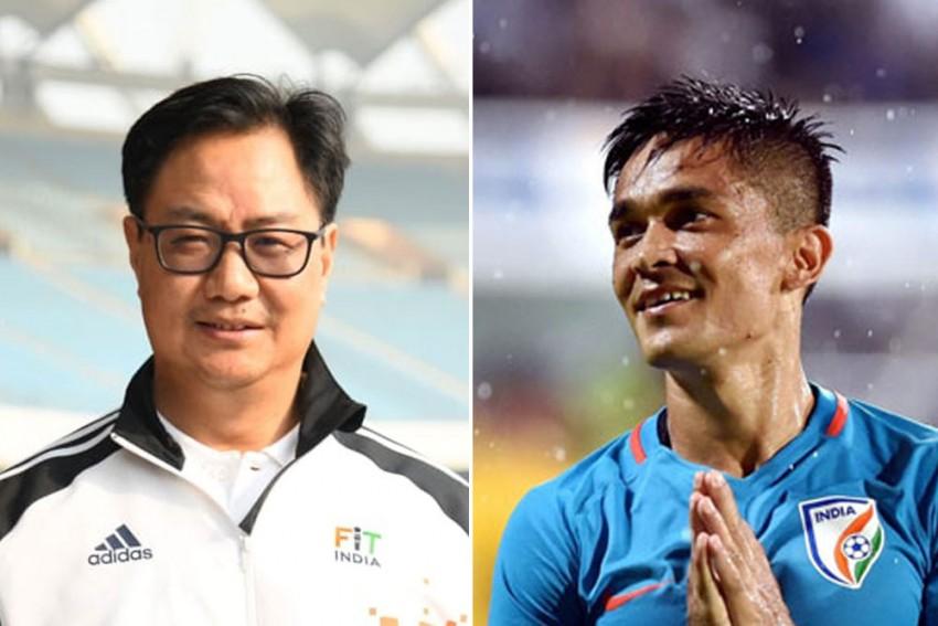 Sunil Chhetri Gets 'Perfect' Birthday Gift From Sports Minister Kiren Rijiju