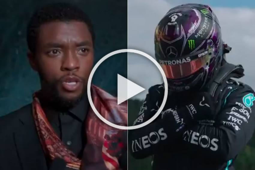 Wakanda Forever: F1 Champ Lewis Hamilton Dedicates Spa Pole To Chadwick Boseman - VIDEO