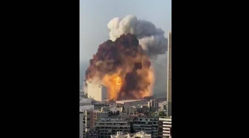 Caught On Camera: Massive Explosion Shakes Lebanon's Capital Beirut, Several Feared Dead