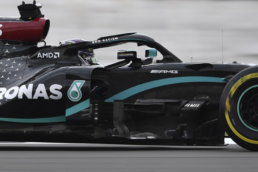 Lewis Hamilton Sets Pace In 70th Anniversary Grand Prix Practice