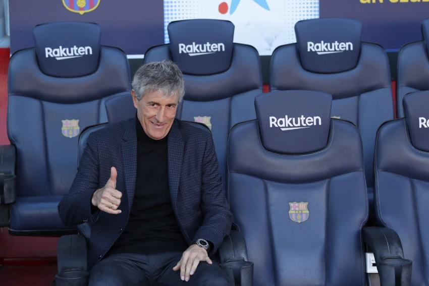 Quique Setien Dismisses Doubts Over Barcelona Future Ahead Of Napoli Showdown