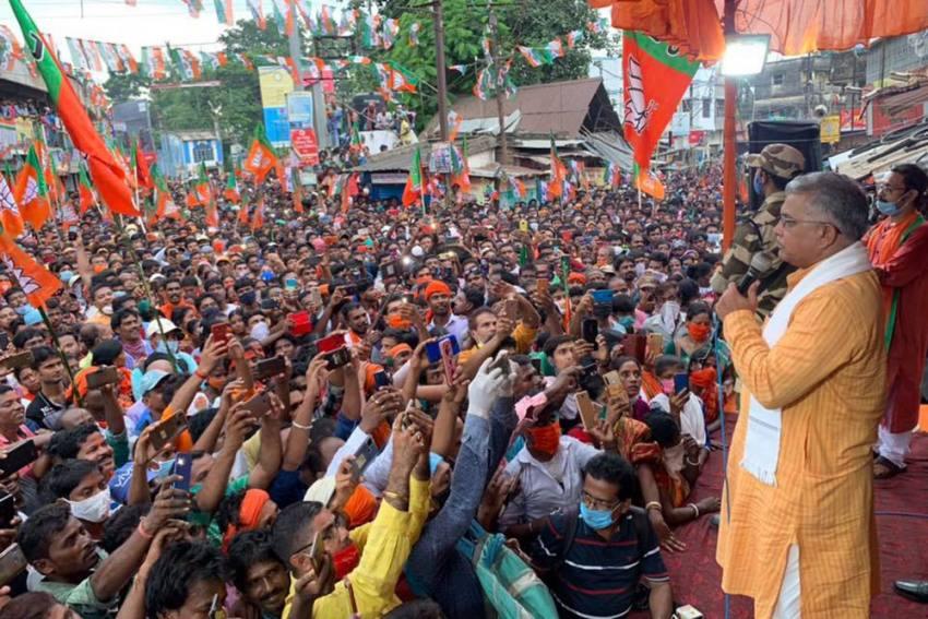 Corona Is Gone: Bengal BJP Chief Justifies Public Rallies