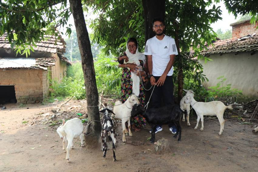 MBA Student Gifts Goats To Tribal Woman Unable To Breastfeed Her New-Born