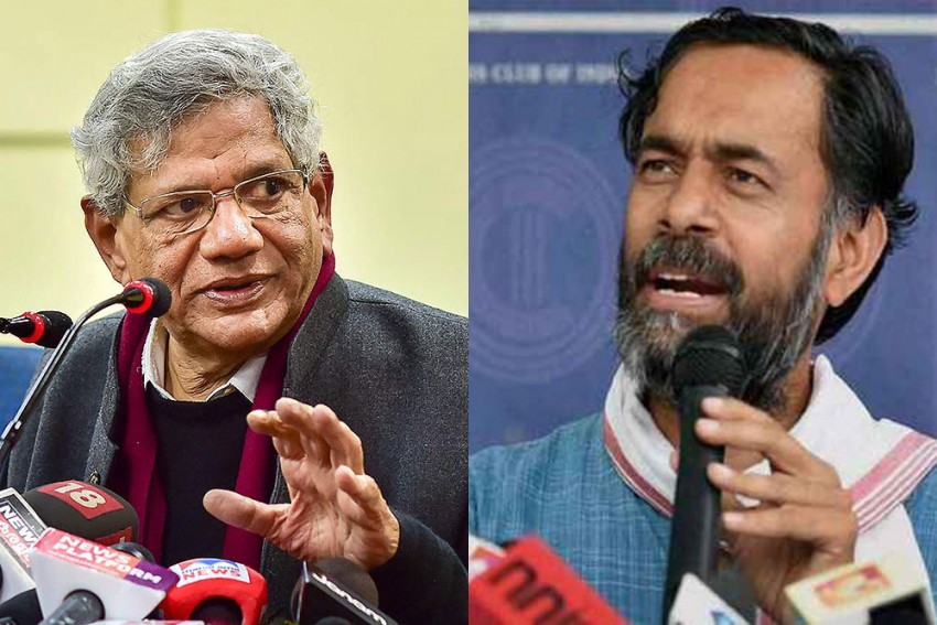 Delhi Riots: Police Name Sitaram Yechury, Yogendra Yadav, Jayati Ghosh, Apoorvanand And Rahul Roy As Co-Conspirators