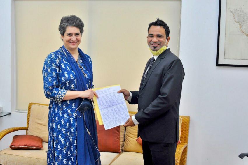 Kafeel Khan Meets Priyanka Gandhi; Urges Congress To Stand Against Misuse Of NSA & UAPA