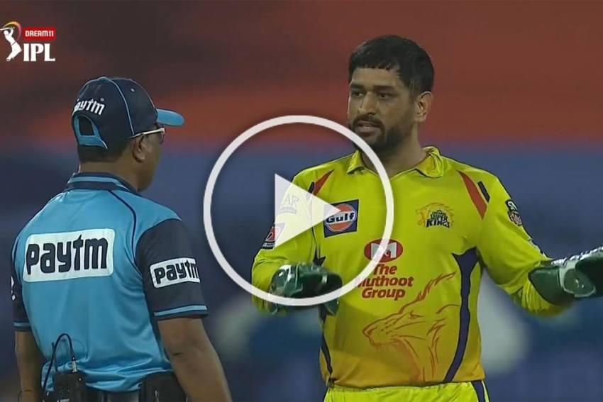 IPL 2020, RR Vs CSK: Unhappy MS Dhoni Takes On Umpire, Again - WATCH